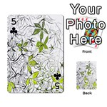 Floral Pattern Background  Playing Cards 54 Designs  Front - Club5