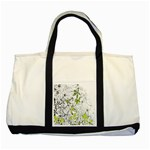 Floral Pattern Background  Two Tone Tote Bag Front