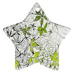 Floral Pattern Background  Star Ornament (Two Sides)  Back