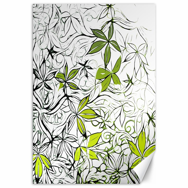 Floral Pattern Background  Canvas 12  x 18