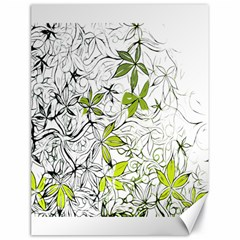Floral Pattern Background  Canvas 18  x 24
