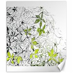 Floral Pattern Background  Canvas 20  x 24   24 x20 Canvas - 1