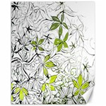 Floral Pattern Background  Canvas 11  x 14   14 x11 Canvas - 1