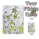 Floral Pattern Background  Multi-purpose Cards (Rectangle)  Back 9