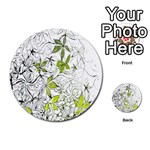 Floral Pattern Background  Multi-purpose Cards (Round)  Back 15
