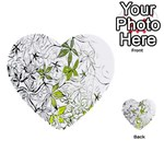 Floral Pattern Background  Multi-purpose Cards (Heart)  Back 25