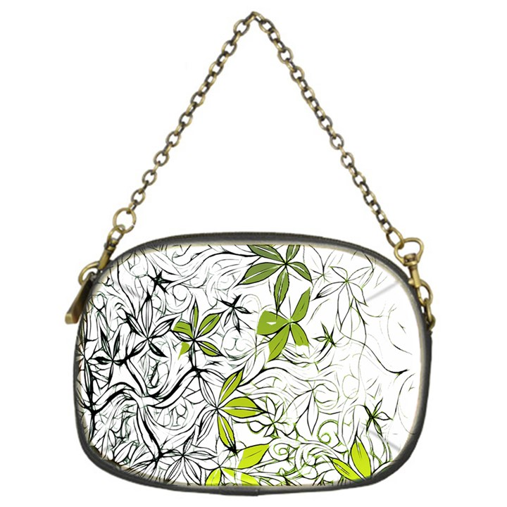 Floral Pattern Background  Chain Purses (One Side)