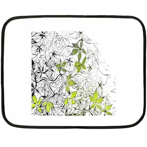 Floral Pattern Background  Fleece Blanket (Mini)