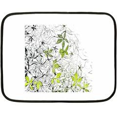 Floral Pattern Background  Double Sided Fleece Blanket (Mini)
