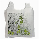 Floral Pattern Background  Recycle Bag (Two Side)  Front