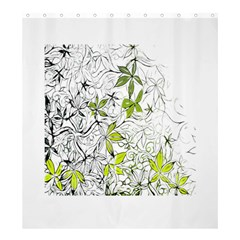 Floral Pattern Background  Shower Curtain 66  x 72  (Large)
