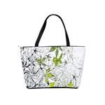 Floral Pattern Background  Shoulder Handbags Back