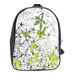Floral Pattern Background  School Bags(Large)  Front