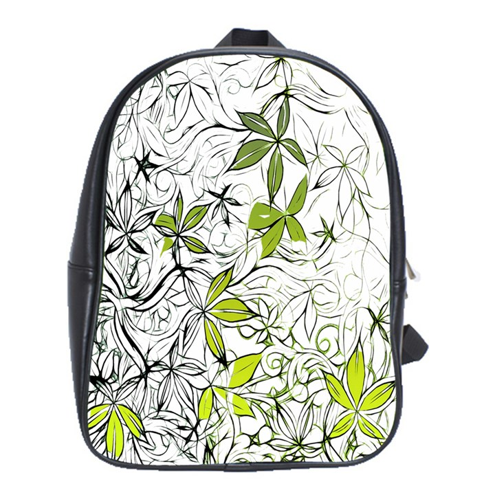 Floral Pattern Background  School Bags(Large)