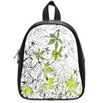 Floral Pattern Background  School Bags (Small)  Front