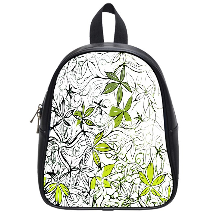 Floral Pattern Background  School Bags (Small)