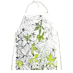 Floral Pattern Background  Full Print Aprons Front