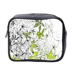 Floral Pattern Background  Mini Toiletries Bag 2-Side