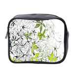 Floral Pattern Background  Mini Toiletries Bag 2-Side Front