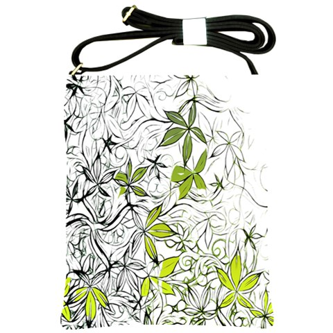 Floral Pattern Background  Shoulder Sling Bags
