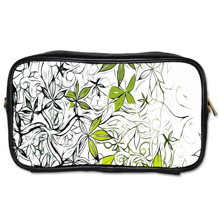 Floral Pattern Background  Toiletries Bags 2-Side