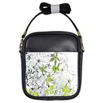 Floral Pattern Background  Girls Sling Bags Front