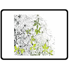Floral Pattern Background  Fleece Blanket (Large)