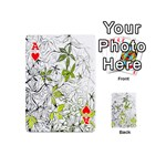 Floral Pattern Background  Playing Cards 54 (Mini)  Front - HeartA