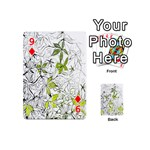 Floral Pattern Background  Playing Cards 54 (Mini)  Front - Diamond9