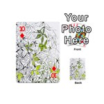 Floral Pattern Background  Playing Cards 54 (Mini)  Front - Diamond10
