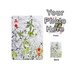 Floral Pattern Background  Playing Cards 54 (Mini)  Front - DiamondA