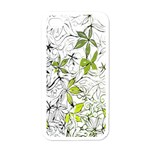 Floral Pattern Background  Apple iPhone 4 Case (White) Front