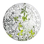 Floral Pattern Background  Ornament (Round Filigree)  Front