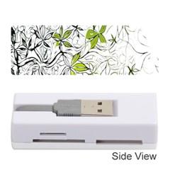 Floral Pattern Background  Memory Card Reader (Stick)