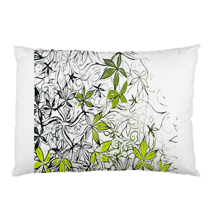 Floral Pattern Background  Pillow Case (Two Sides)