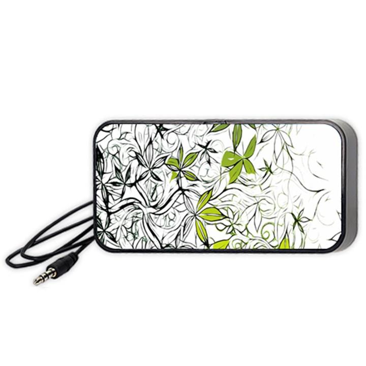 Floral Pattern Background  Portable Speaker (Black)