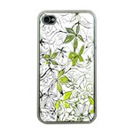 Floral Pattern Background  Apple iPhone 4 Case (Clear) Front