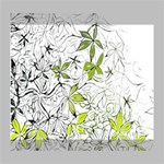 Floral Pattern Background  Deluxe Canvas 20  x 16   20  x 16  x 1.5  Stretched Canvas