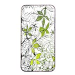 Floral Pattern Background  Apple iPhone 4/4s Seamless Case (Black) Front