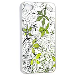 Floral Pattern Background  Apple iPhone 4/4s Seamless Case (White)