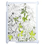 Floral Pattern Background  Apple iPad 2 Case (White) Front