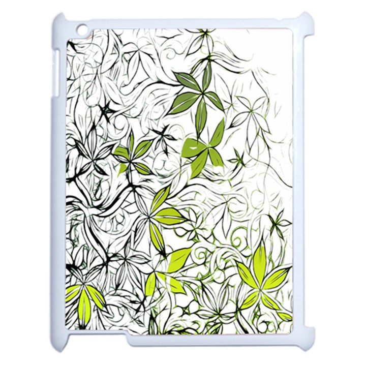 Floral Pattern Background  Apple iPad 2 Case (White)