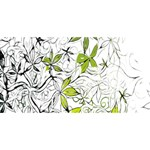 Floral Pattern Background  YOU ARE INVITED 3D Greeting Card (8x4) Back