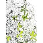 Floral Pattern Background  WORK HARD 3D Greeting Card (7x5) Inside