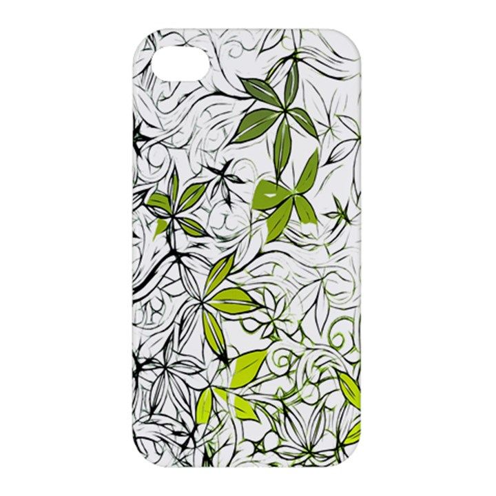 Floral Pattern Background  Apple iPhone 4/4S Hardshell Case