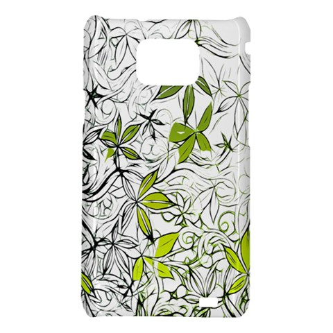 Floral Pattern Background  Samsung Galaxy S2 i9100 Hardshell Case