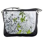 Floral Pattern Background  Messenger Bags Front