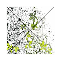 Floral Pattern Background  Acrylic Tangram Puzzle (6  x 6 )
