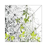 Floral Pattern Background  Acrylic Tangram Puzzle (6  x 6 ) Front