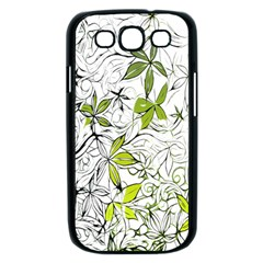 Floral Pattern Background  Samsung Galaxy S III Case (Black)